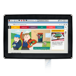 Waveshare - شاشة راسبيري باي HDMI LCD قياس 10.1 إنش - موديل H مع قاعدة