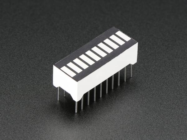 Adafruit - 10 Segment Işık Çubuğu Grafik LED Ekran - Sarı