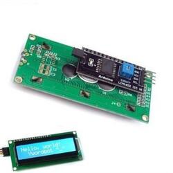 SAMM - 2x16 LCD Ekran Mavi IIC/I2C Seri