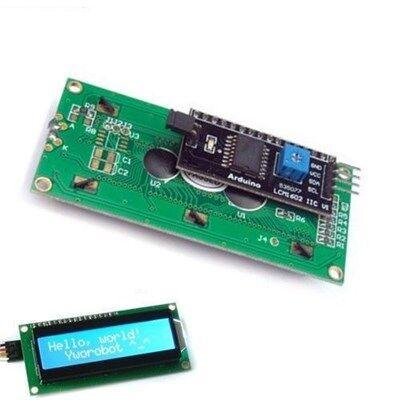 2x16 LCD Ekran Mavi IIC/I2C Seri