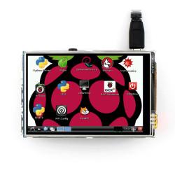 3.5 بوصة تعمل باللمس TFT LCD مصممة لل راسبيري باي - Thumbnail