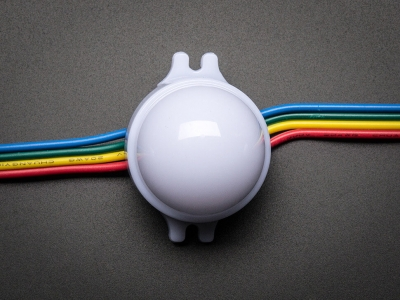 30mm Nokta - 12V Dijital RGB LED Piksel (20'li Dizi) - WS2801