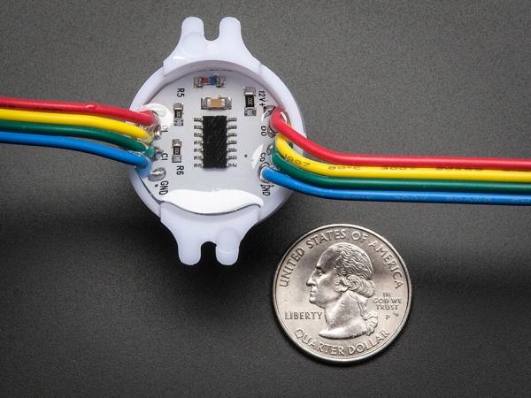 30mm Nokta - 12V Dijital RGB LED Piksel (20'li Dizi) - WS2801 - Thumbnail