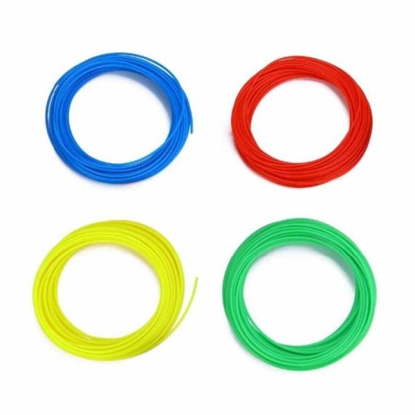 SAMM - 3D Yazıcı Kalem için eMate Filament Paketi - 4 Renk, 5′er Metre