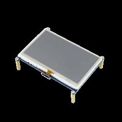 Waveshare - شاشة HDMI لمس لراسبيري باي - قياس 4.3 إنش