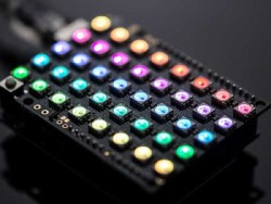 Neopixel 40'lı RGB LED Matrix Shield - Thumbnail