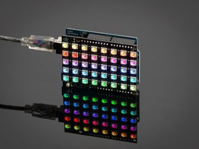 Neopixel 40'lı RGB LED Matrix Shield