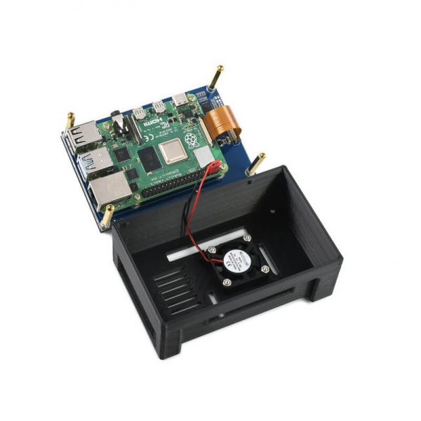 4.3inch Capacitive Touch Display for Raspberry Pi, with Protection Case, DSI Interface, 800×480 - Thumbnail