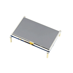 Waveshare - شاشة HDMI لمس لراسبيري باي - قياس 5 إنش
