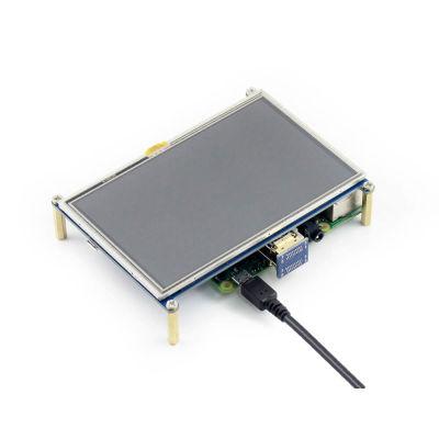 شاشة HDMI لمس لراسبيري باي - قياس 5 إنش