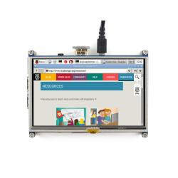 شاشة HDMI لمس لراسبيري باي - قياس 5 إنش - Thumbnail