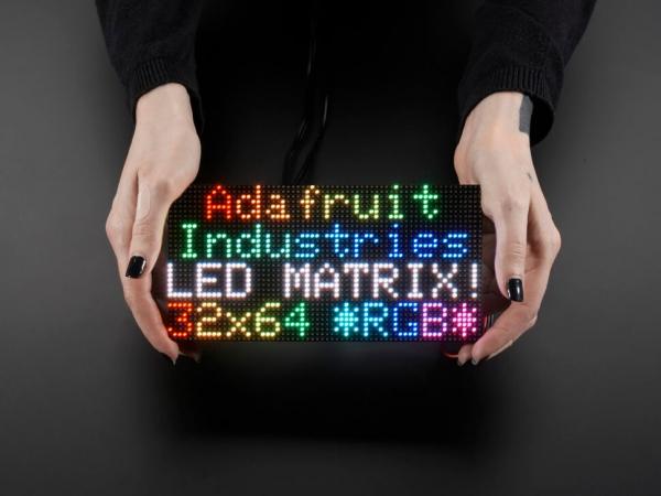 64x32 RGB LED Matrisi - 3 mm aralıklı - Thumbnail
