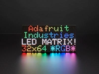 64x32 RGB LED Matrisi - 3 mm aralıklı