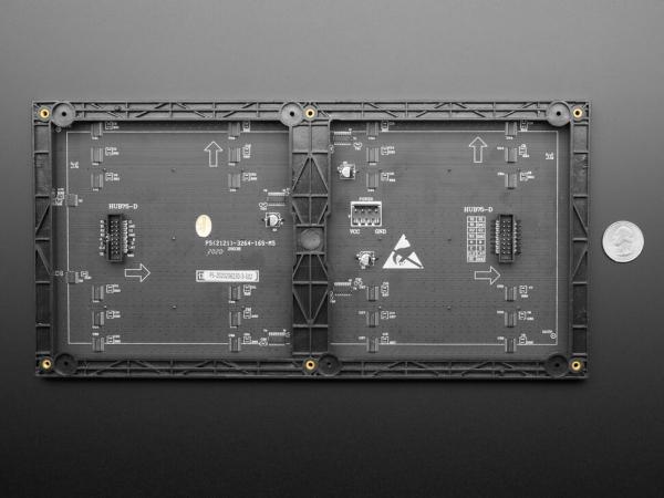 64x32 RGB LED Matrisi - 5 mm Aralıklı - Thumbnail