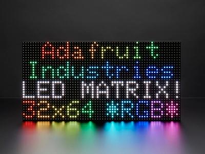 64x32 RGB LED Matrisi - 6mm Aralıklı