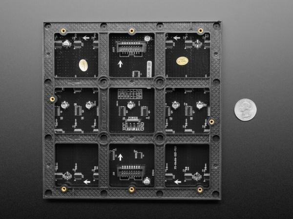 64x64 RGB LED Matrisi - 3mm Aralıklı - 192mm x 192mm - Thumbnail