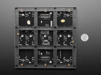 64x64 RGB LED Matrisi - 3mm Aralıklı - 192mm x 192mm