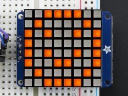 Adafruit - 8x8 1.2'' Ekstra Parlak I2C LED Matris