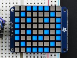 Adafruit - 8x8 1.2'' Ekstra Parlak Mavi Renkli I2C LED Matris