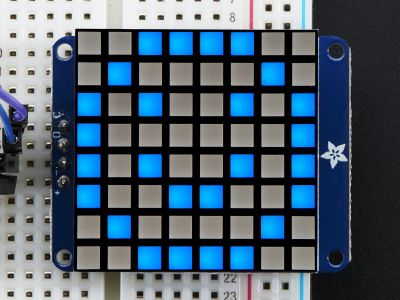 8x8 1.2'' Ekstra Parlak Mavi Renkli I2C LED Matris