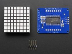 8x8 1.2'' Ekstra Parlak Mavi Renkli I2C LED Matris - Thumbnail