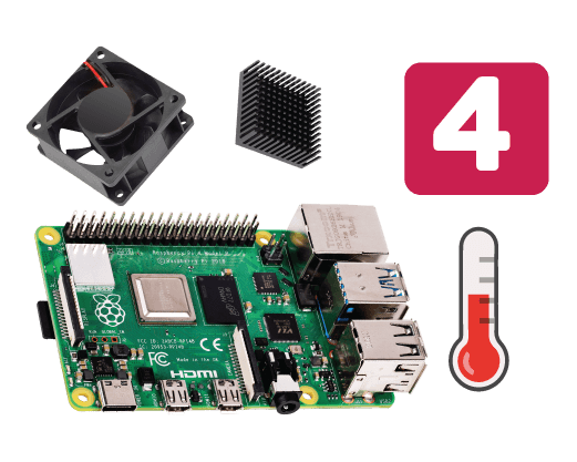 Cooling Raspberry Pi 4