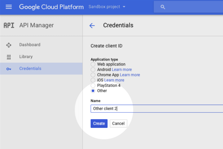 Google Voice Kit, Cloud API Platform a Bağlamak 9