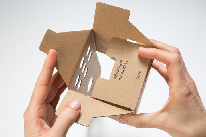 Folding the Google Voice Kit Cardboard Box 1