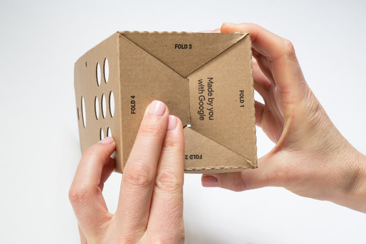 Folding the Google Voice Kit Cardboard Box 2