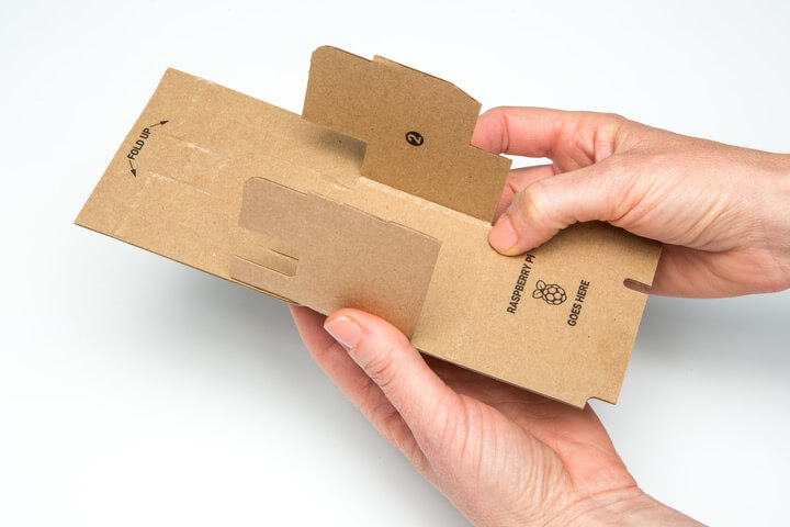 Folding the Google Voice Kit Inner Cardboard Frame 1
