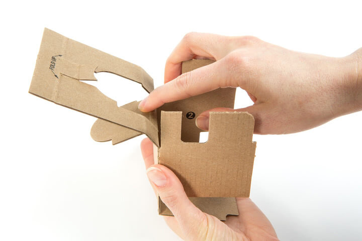 Folding the Google Voice Kit Inner Cardboard Frame 2