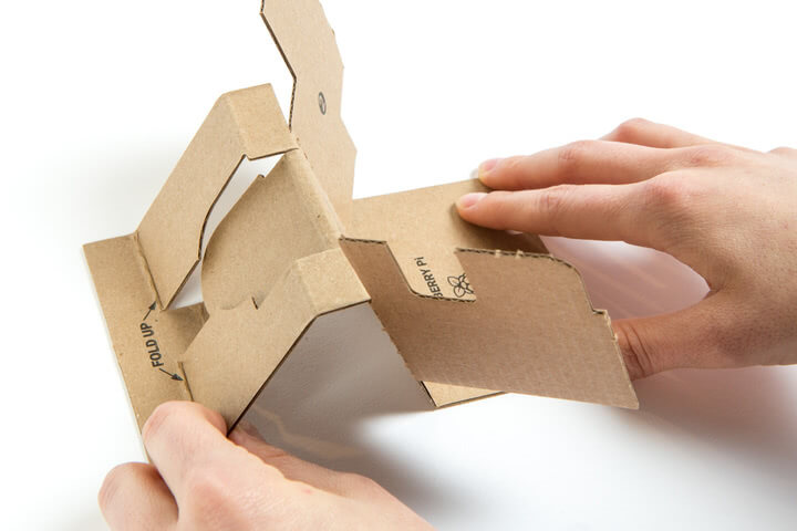 Folding the Google Voice Kit Inner Cardboard Frame 3