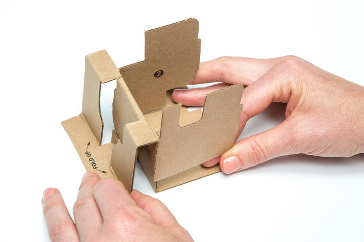 Folding the Google Voice Kit Inner Cardboard Frame 4