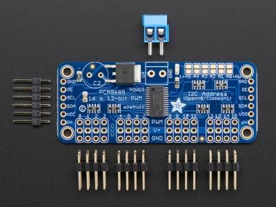 Adafruit 16-Kanal 12-bit PWM/Servo Sürücü - I2C Arayüzü PCA9685