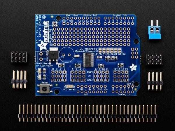 Adafruit 16-Kanal 12-bit PWM/Servo Shield - I2C Arayüzü - Thumbnail