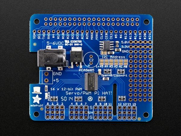 Adafruit - Adafruit 16-Kanal PWM / Raspberry Pi için Servo HAT - Mini Kit