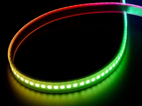Adafruit - Adafruit DotStar Dijital LED Şerit - Beyaz 144 LED/m - 0,5 Metre