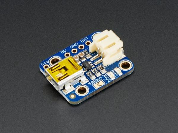 Adafruit - Adafruit Mini Lipo w/Mini-B USB Jack - USB LiIon/LiPoly Şarj Cihazı - v1