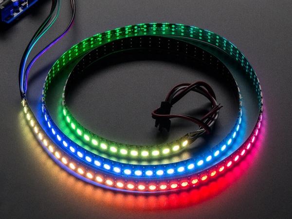 Adafruit - Adafruit NeoPixel Dijital RGB LED Şerit 144 LED - 1m Siyah
