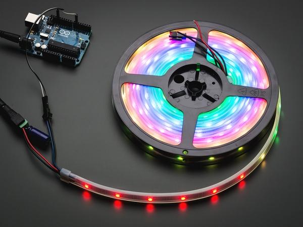 Adafruit - Adafruit NeoPixel Dijital RGB LED Şerit - Beyaz 30 LED 1m