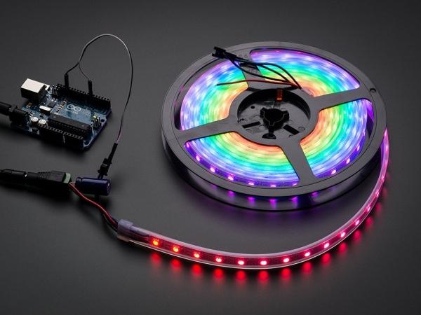 Adafruit - Adafruit NeoPixel Dijital RGB LED Şerit - Beyaz 60 LED 1m