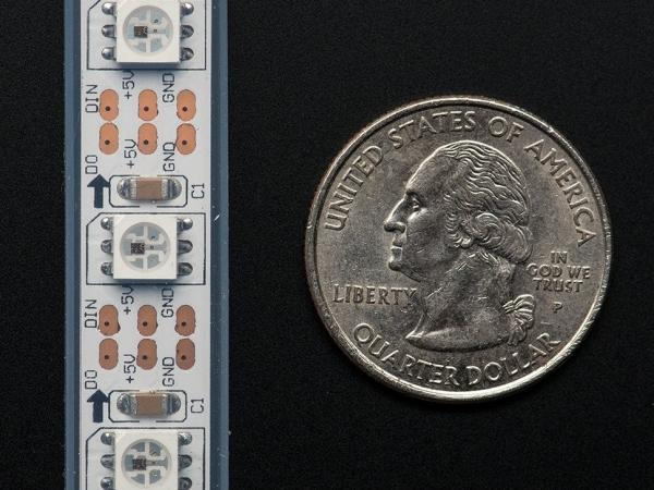 Adafruit NeoPixel Dijital RGB LED Şerit - Beyaz 60 LED 1m - Thumbnail