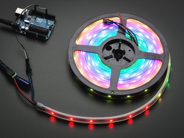 Adafruit - Adafruit NeoPixel Dijital RGB LED Şerit - Siyah 30 LED 1m