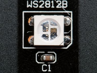 Adafruit NeoPixel Dijital RGB LED Şerit - Siyah 60 LED 1m