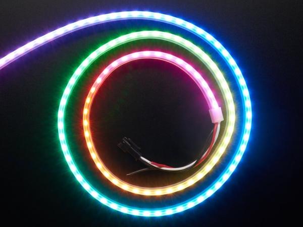 Adafruit - Adafruit NeoPixel LED Yan Işık Çubuğu - Siyah 120 LED
