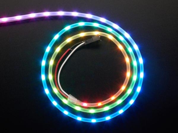 Adafruit - Adafruit NeoPixel LED Yan Işık Çubuğu - Siyah 60 LED