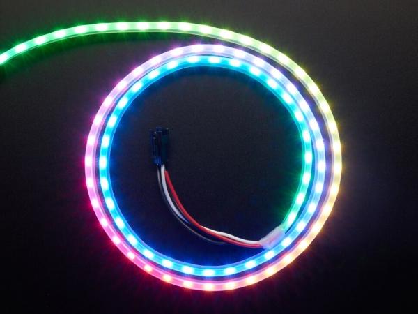 Adafruit - Adafruit NeoPixel LED Yan Işık Çubuğu - Siyah 90 LED