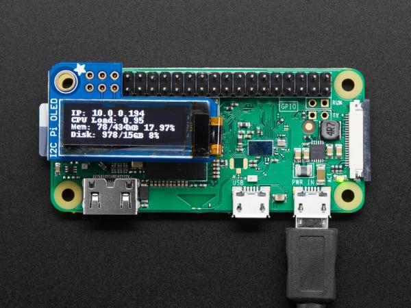 Adafruit - Adafruit Pi OLED - Raspberry Pi için 128x32 Monochrome OLED Eklentisi