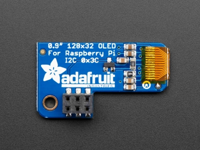 Adafruit Pi OLED - Raspberry Pi için 128x32 Monochrome OLED Eklentisi