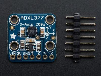 ADXL377 3 Eksenli Yüksek G İvmeölçer ±200g